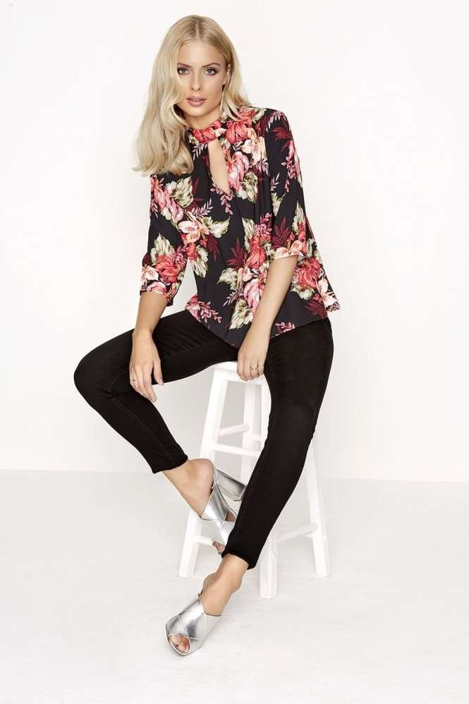 Girls on Film Floral Print Top