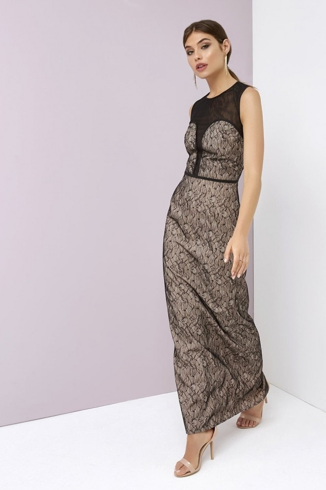 Contrast Lace Maxi