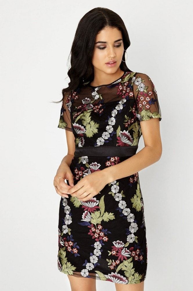 Girls on Film Embroidered Mini Dress