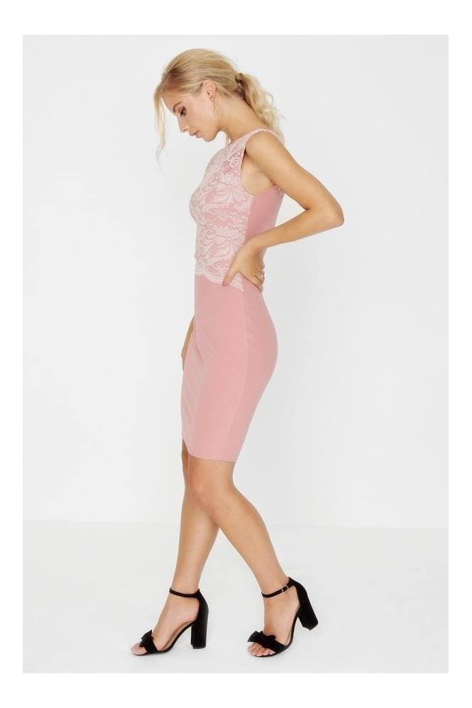 Outlet Girls On Film Rose Bodycon Dress
