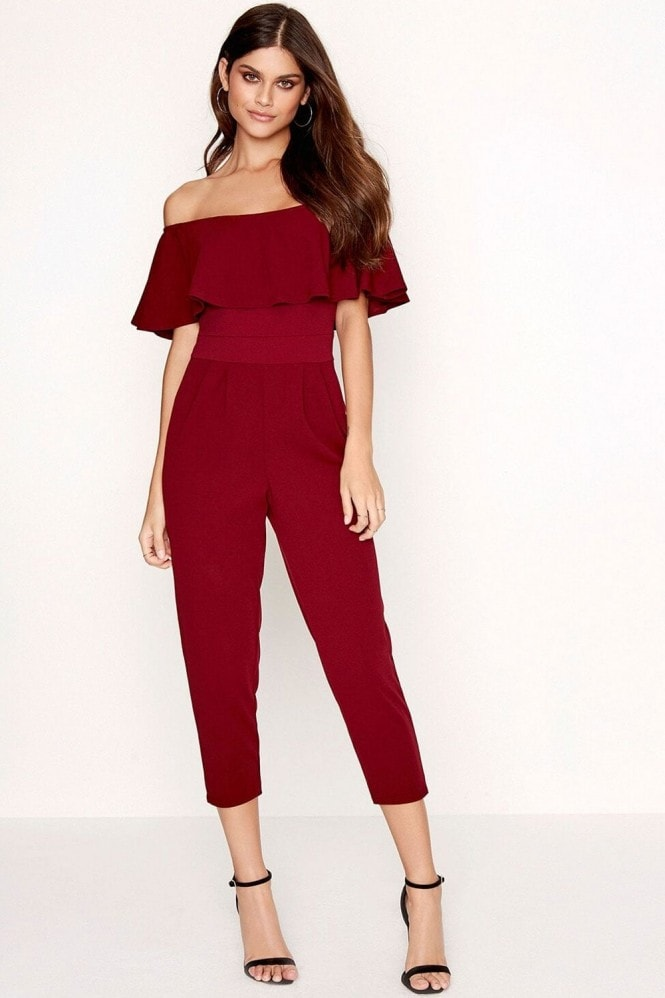 Girls on Film Burgundy Jumpsuit