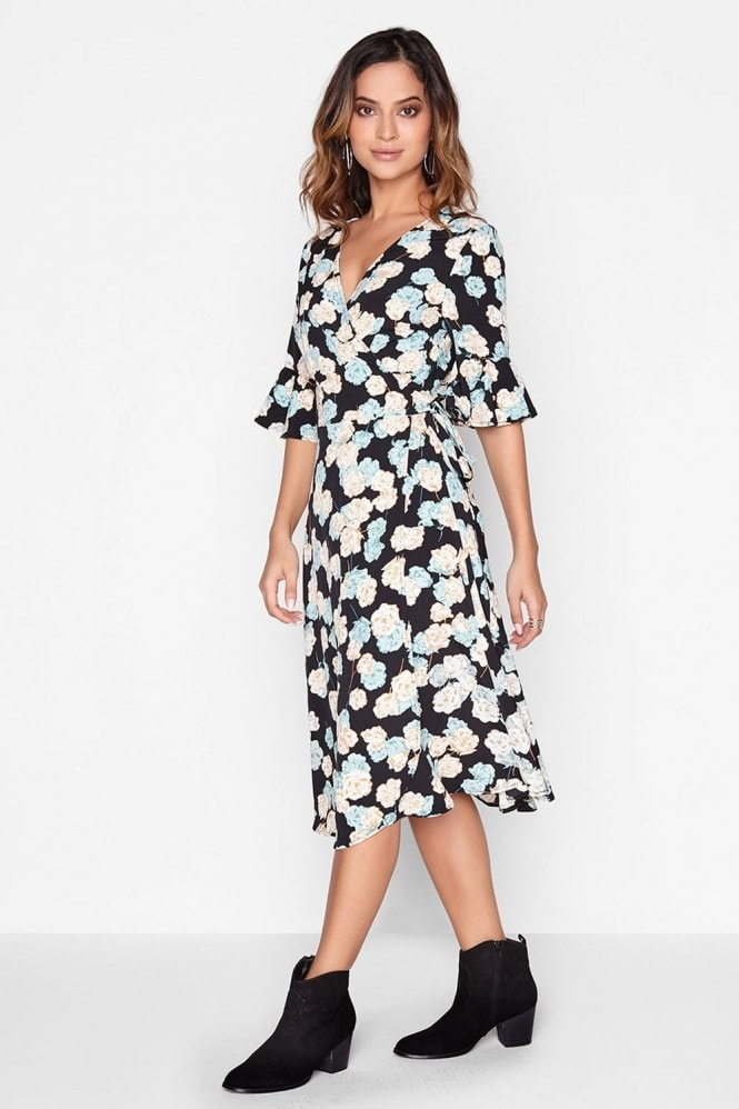 Outlet Girls On Film Floral Wrap Dress