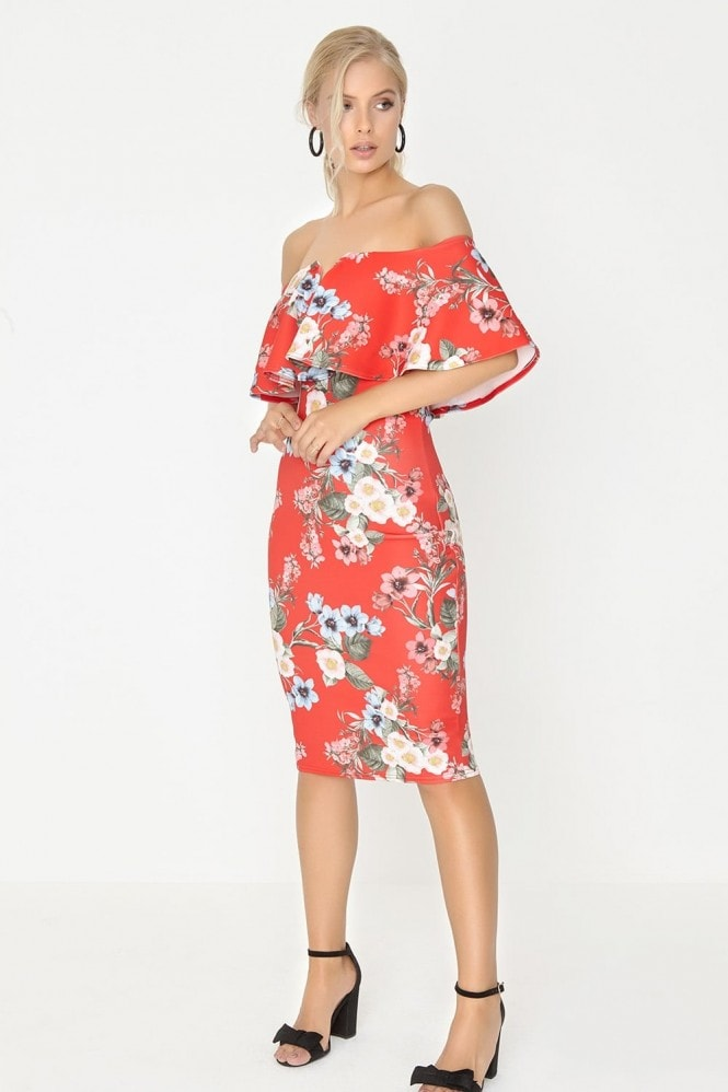 Girls on Film Floral Bodycon Dress