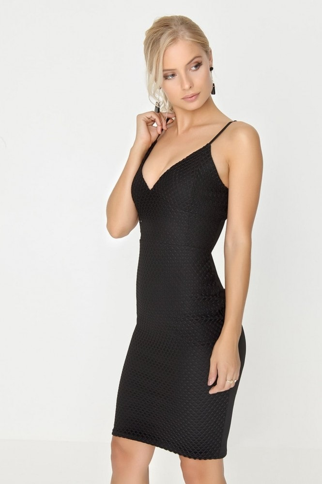 Outlet Girls On Film Black Bodycon Dress