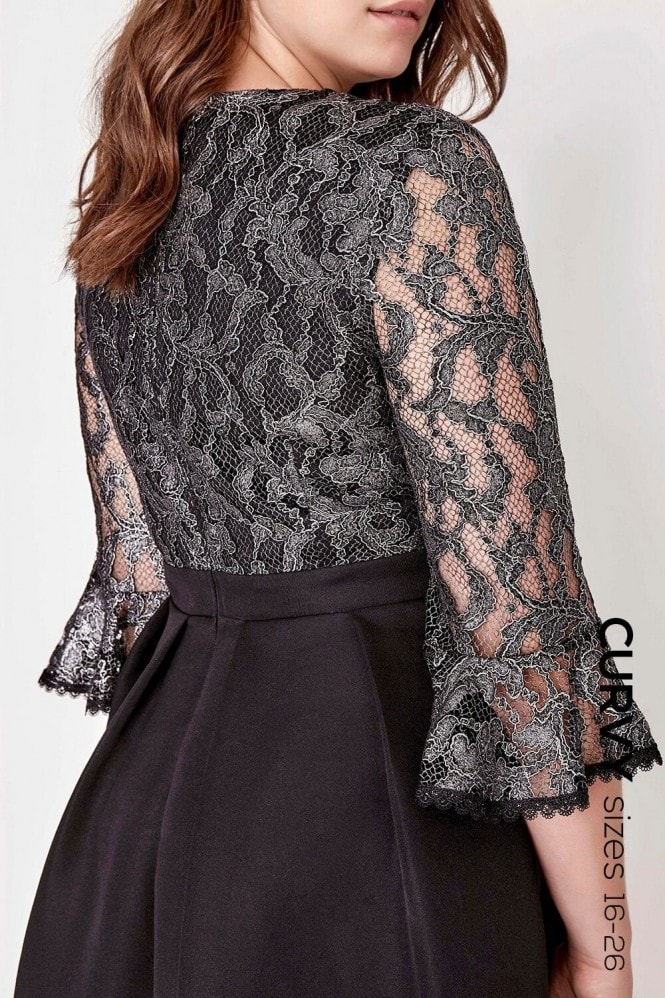 Black Lace Trim Prom
