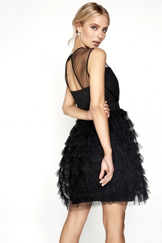 Little Mistress Black Ruffle Mini