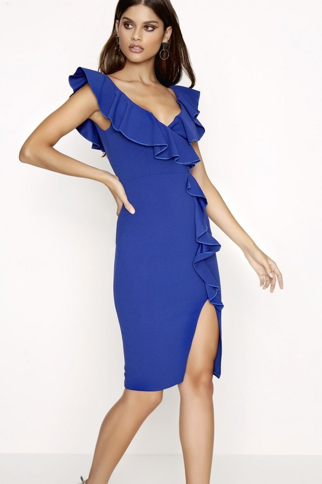 Girls on Film Cobalt Bodycon Dress