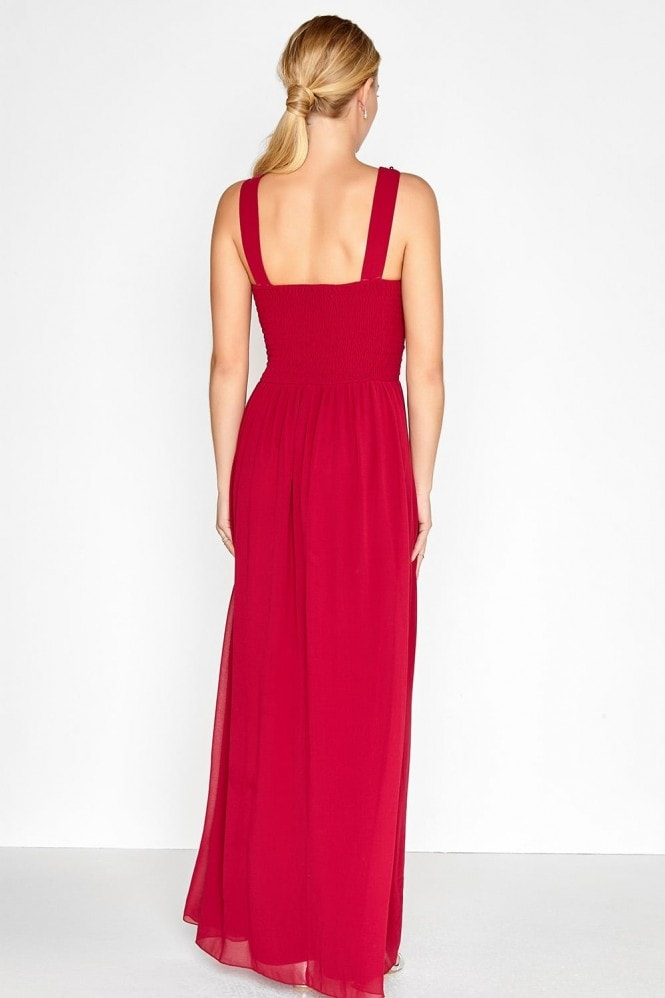 Little Mistress Burgundy Maxi Dress