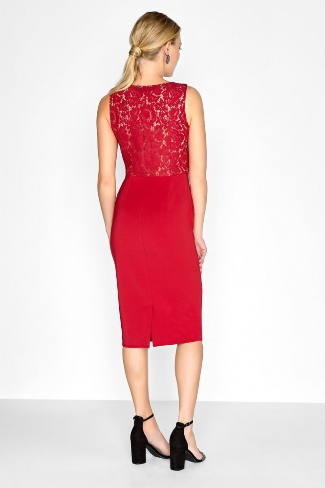 Little Mistress Crimson Lace Dress
