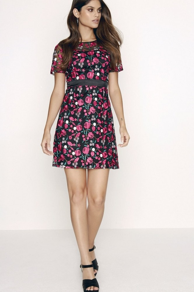Outlet Girls On Film Pink Embroidered Dress