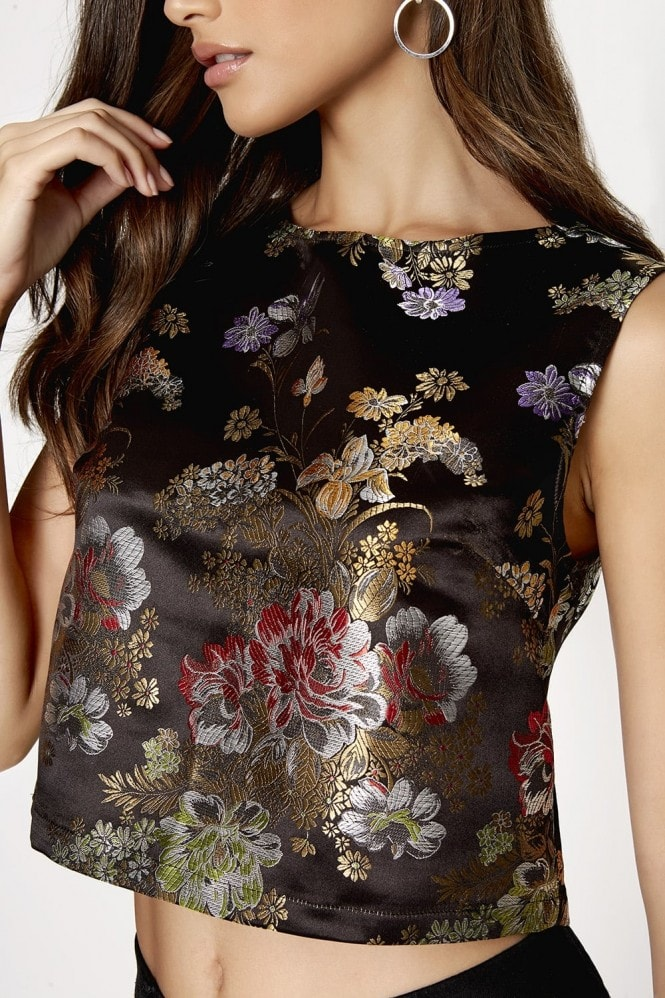Girls on Film Print Jacquard Top
