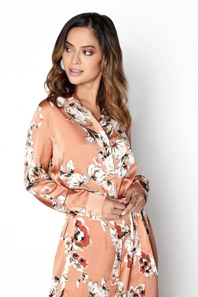 Girls on Film Copper Shirt Dress