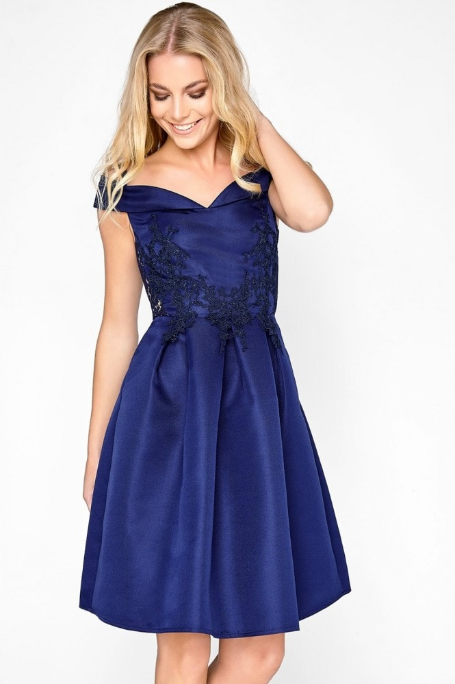 Little Mistress Navy Applique Prom