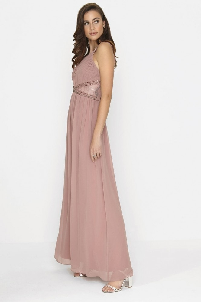Little Mistress Rose Embellished Panel Maxi