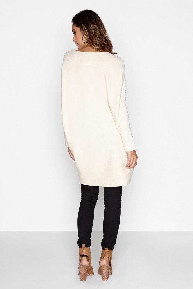 Girls on Film Cream Bead Jumper