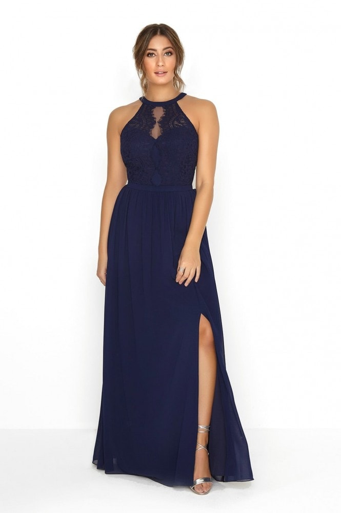 Little Mistress Navy Lace Dress