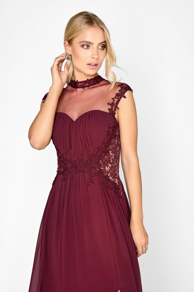 Little Mistress Merlot Applique Maxi