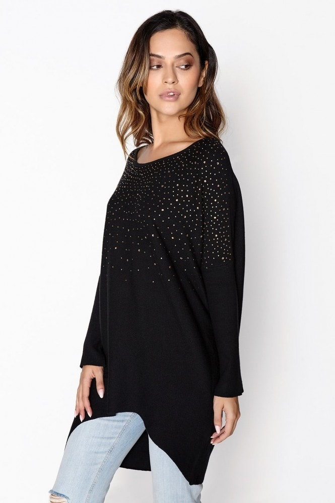Girls on Film Black Bead Jumper