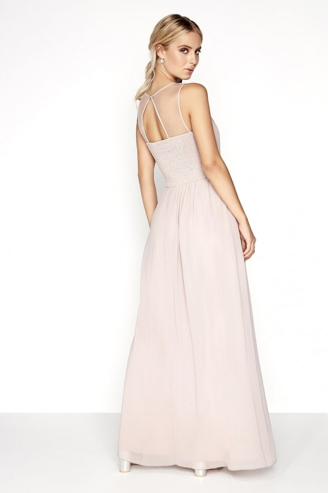Little Mistress Mink Pearl Yoke Maxi