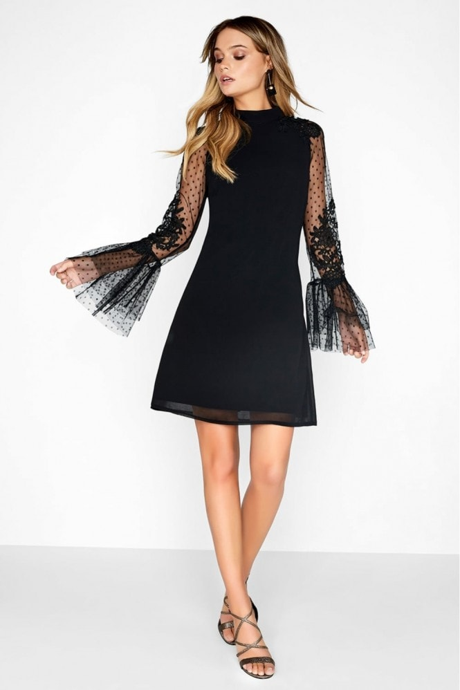 Black Spot Shift Dress - INVISIBLE FOR ASOS