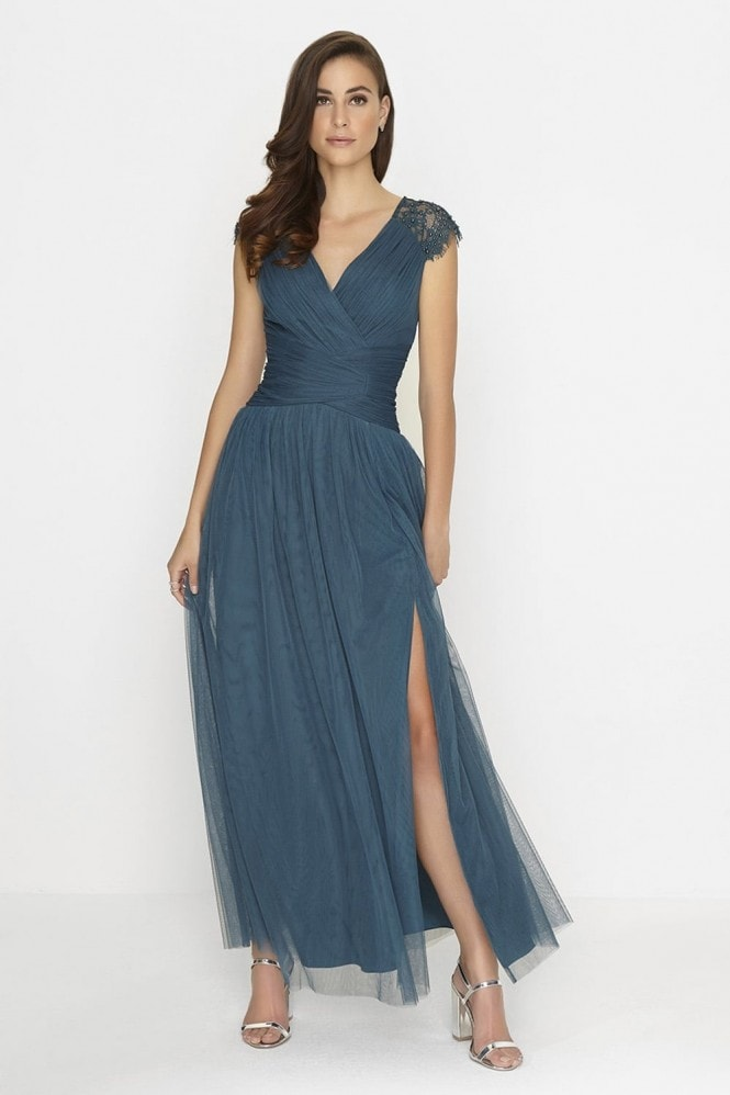Little Mistress Petrol Maxi Dress