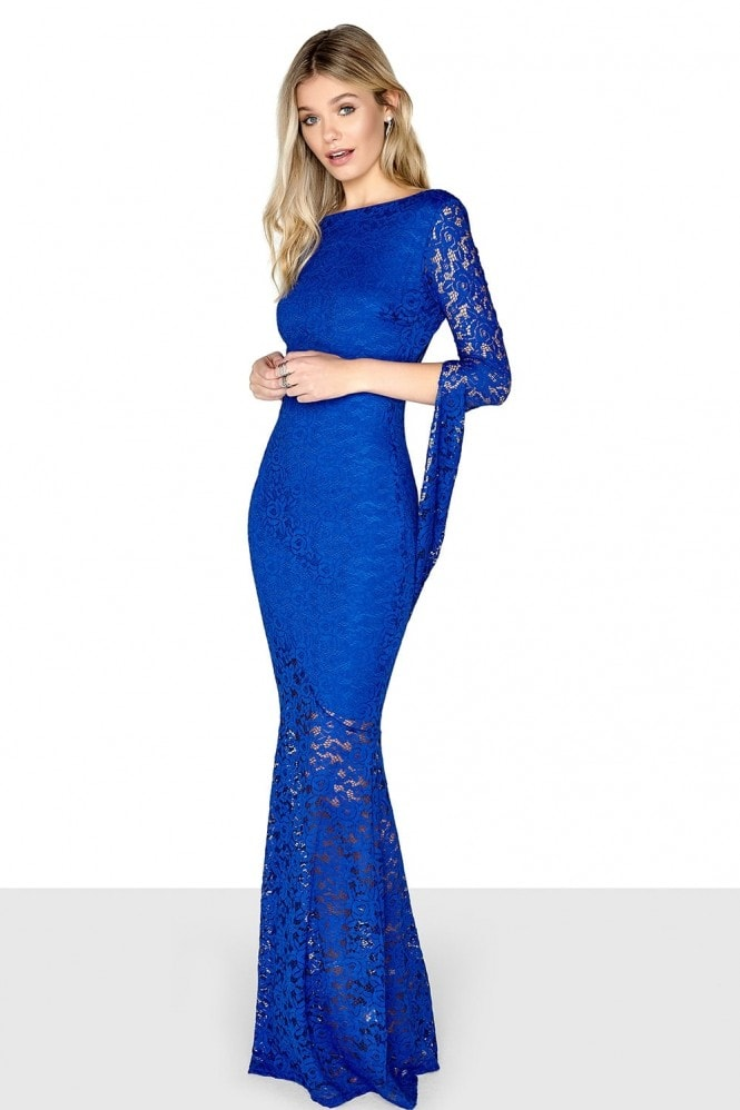 Little Mistress Cobalt Long Sleeve Maxi