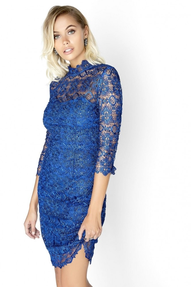 Outlet Paper Dolls Cobalt Lace Dress