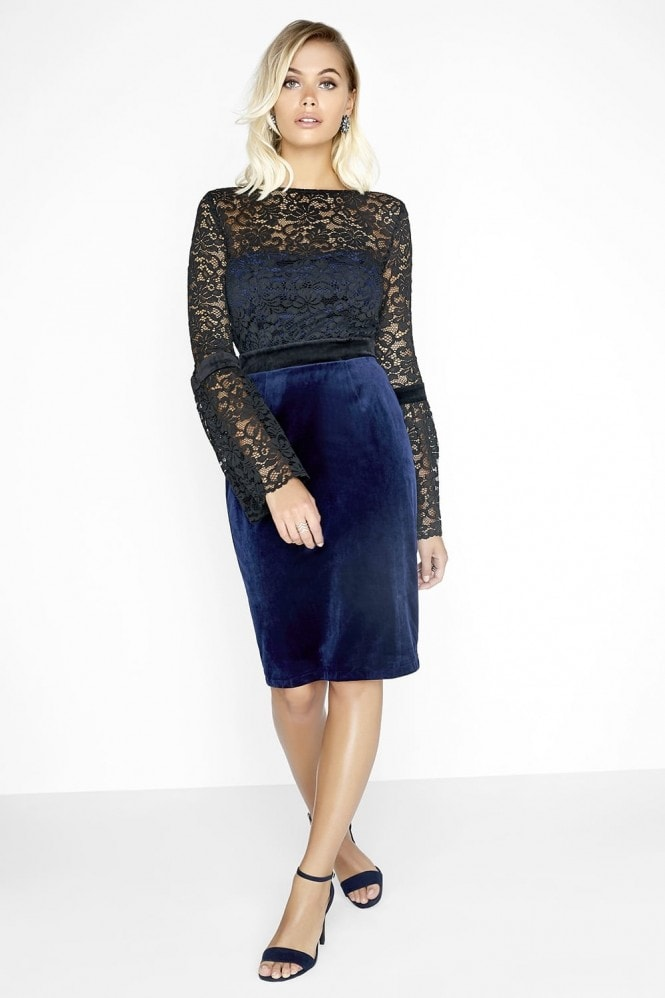 Outlet Paper Dolls Black / Navy Dress