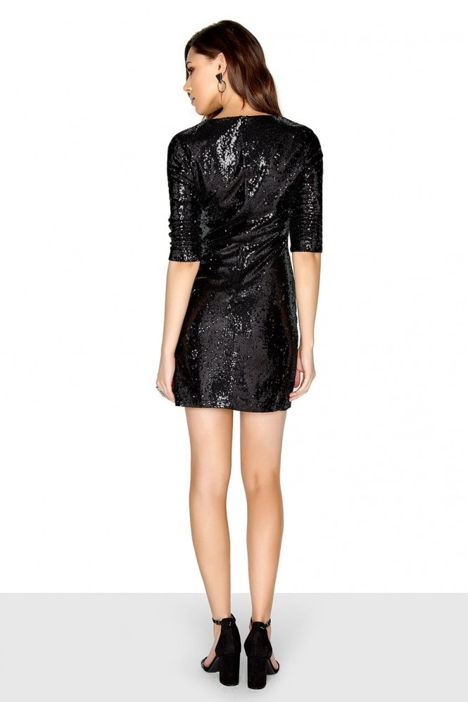 Outlet Girls On Film Black Sequin Dress