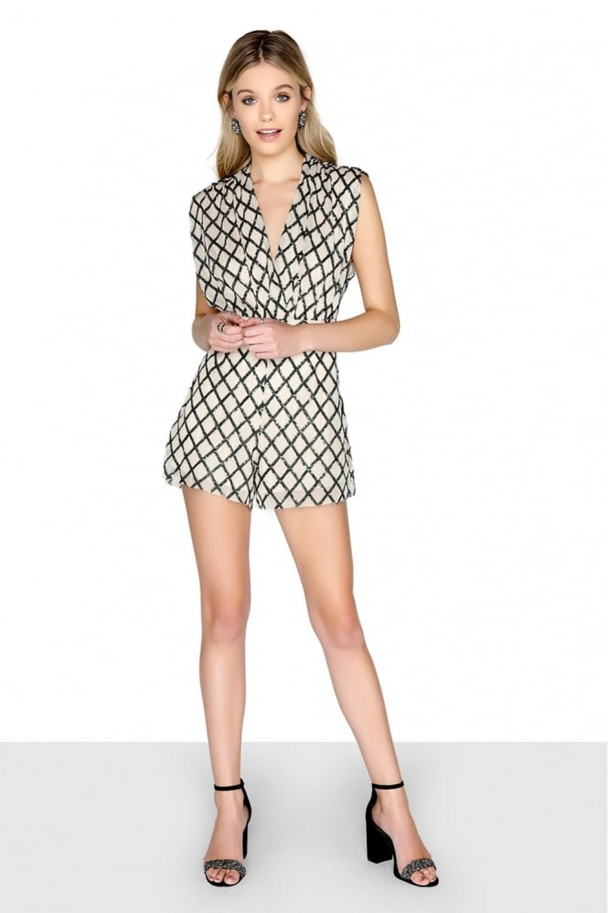 Outlet Girls On Film Multi Sequin Playsuit