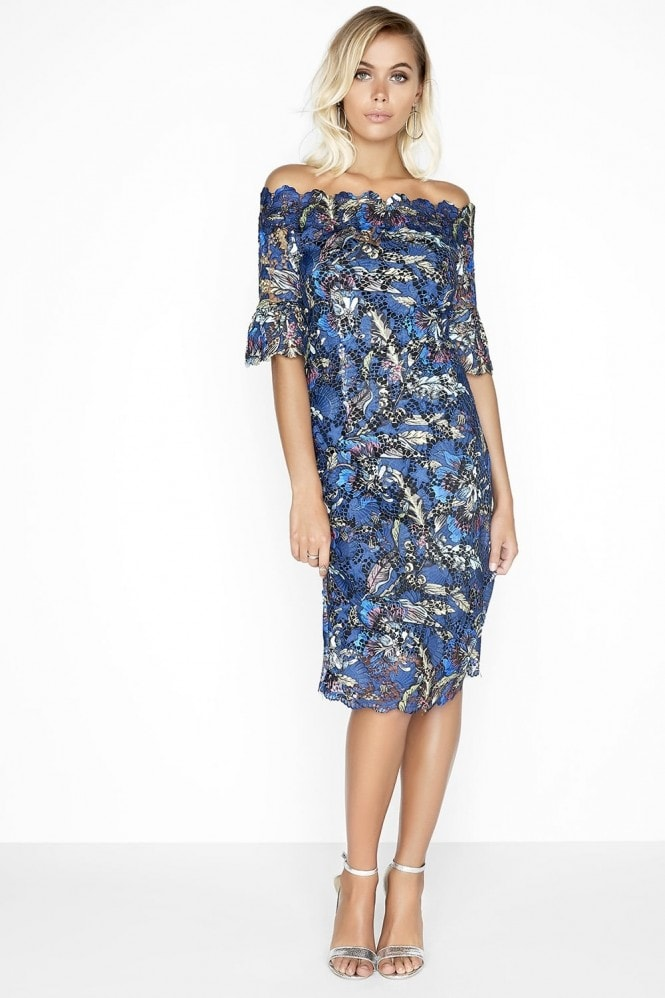 Outlet Paper Dolls Floral Bardot Dress