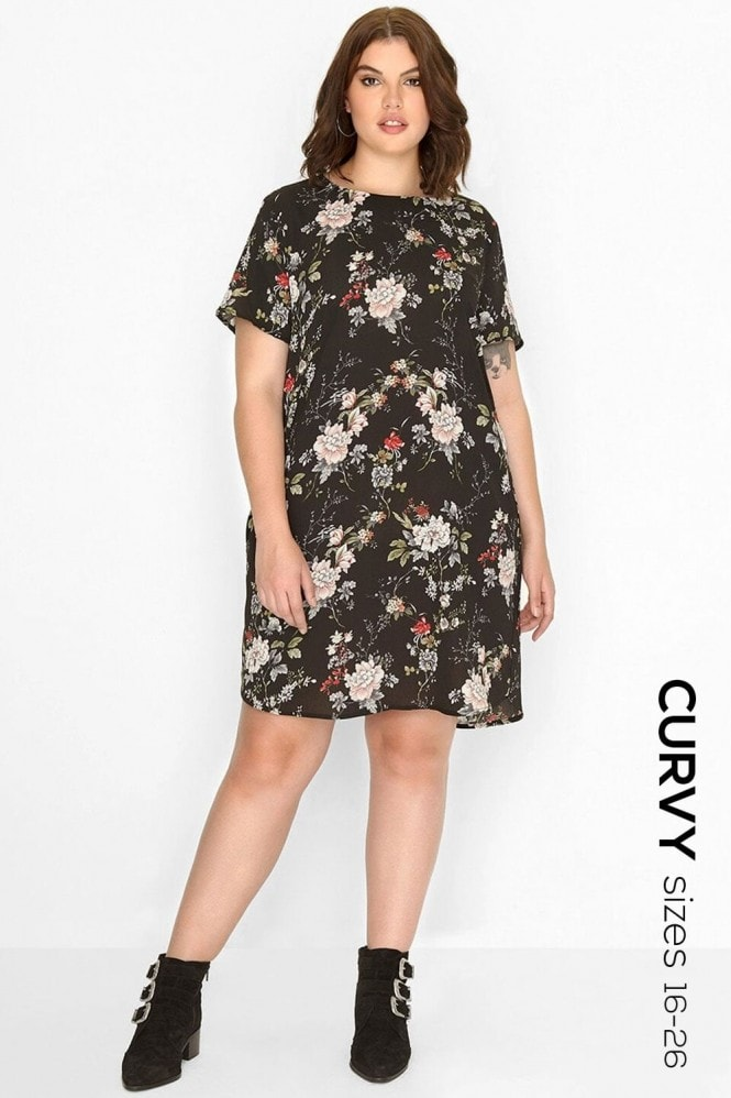 Girls On Film Curvy Floral Shift Dress