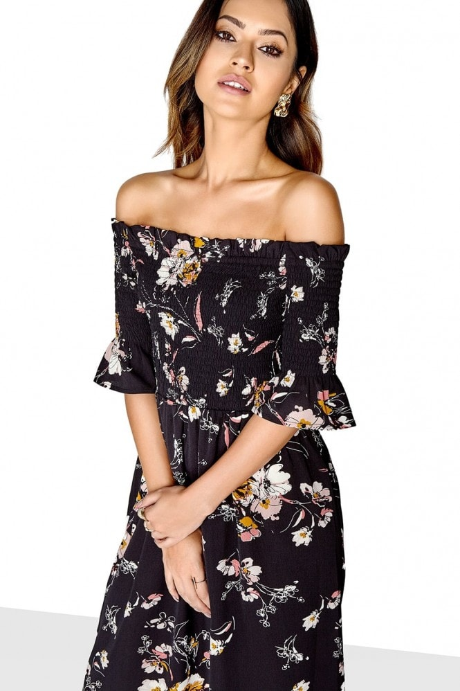 Outlet Girls On Film Print Midi Dress