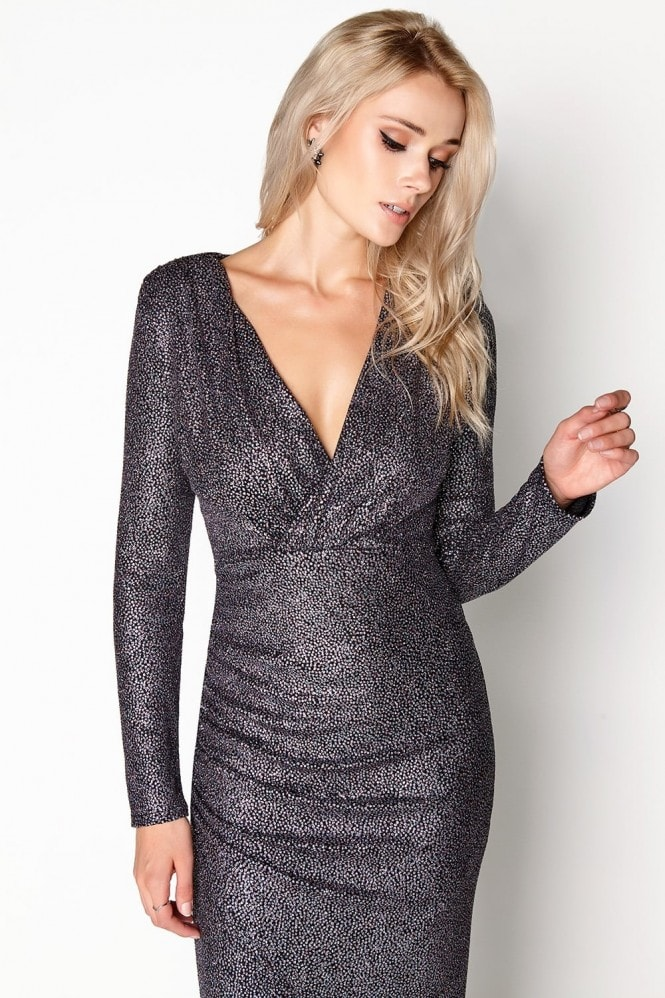 Outlet Girls On Film Pewter Bodycon