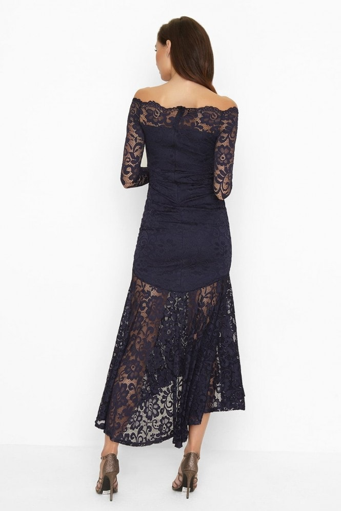 Girls on Film Navy Lace Maxi