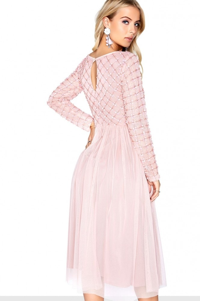 Little Mistress Pink Midi Dress
