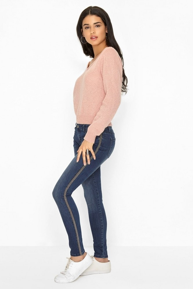 Girls on Film Blue Skinny Jeans