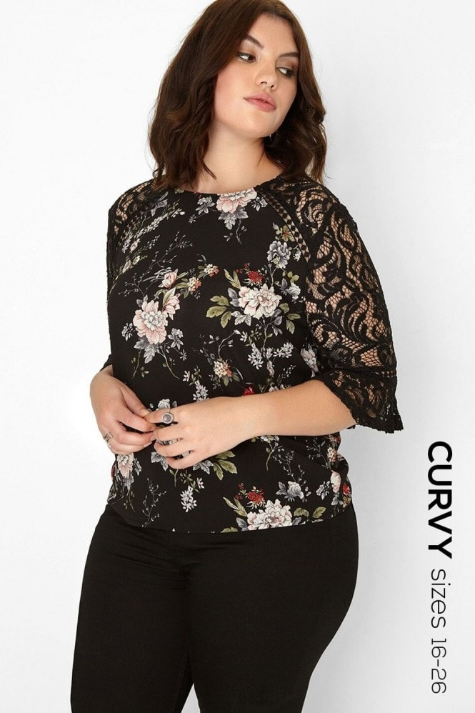 Girls on Film Floral Lace Top