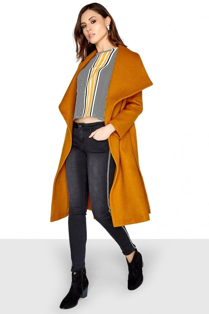 Outlet Girls On Film Mustard Coat