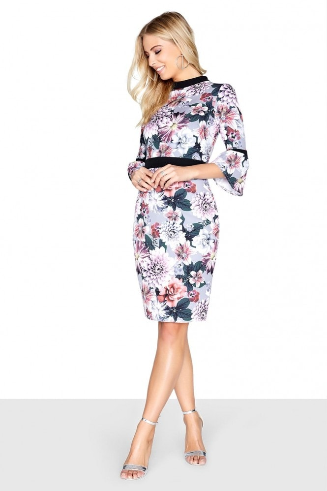 Outlet Paper Dolls Dusky Floral Dress
