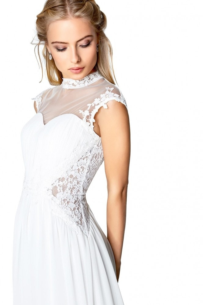 Little Mistress Ivory Applique Bridal Dress