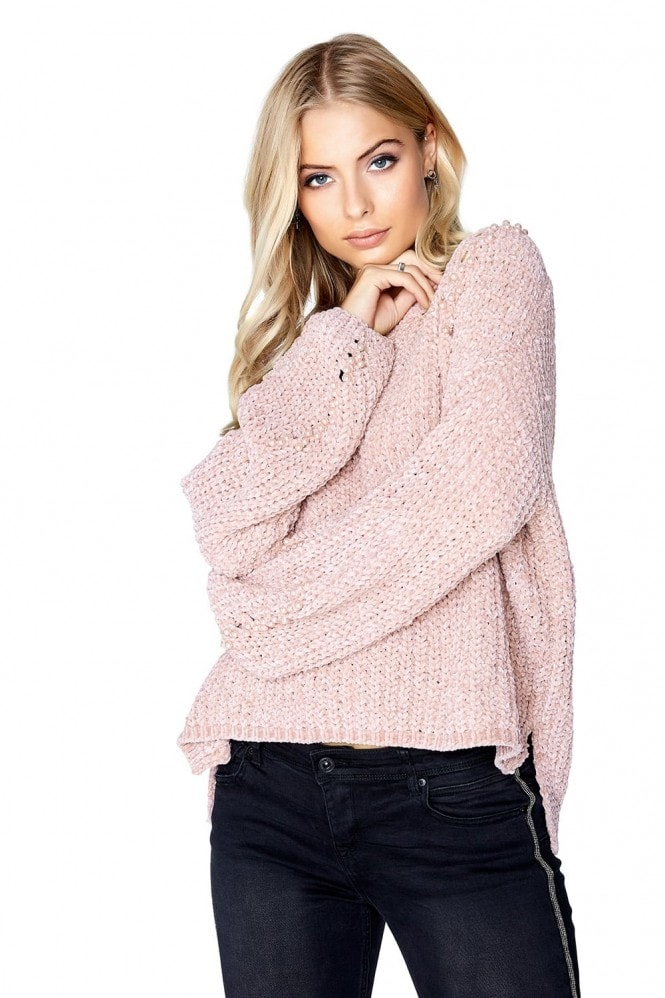 Girls on Film Pink Pearl Jumper