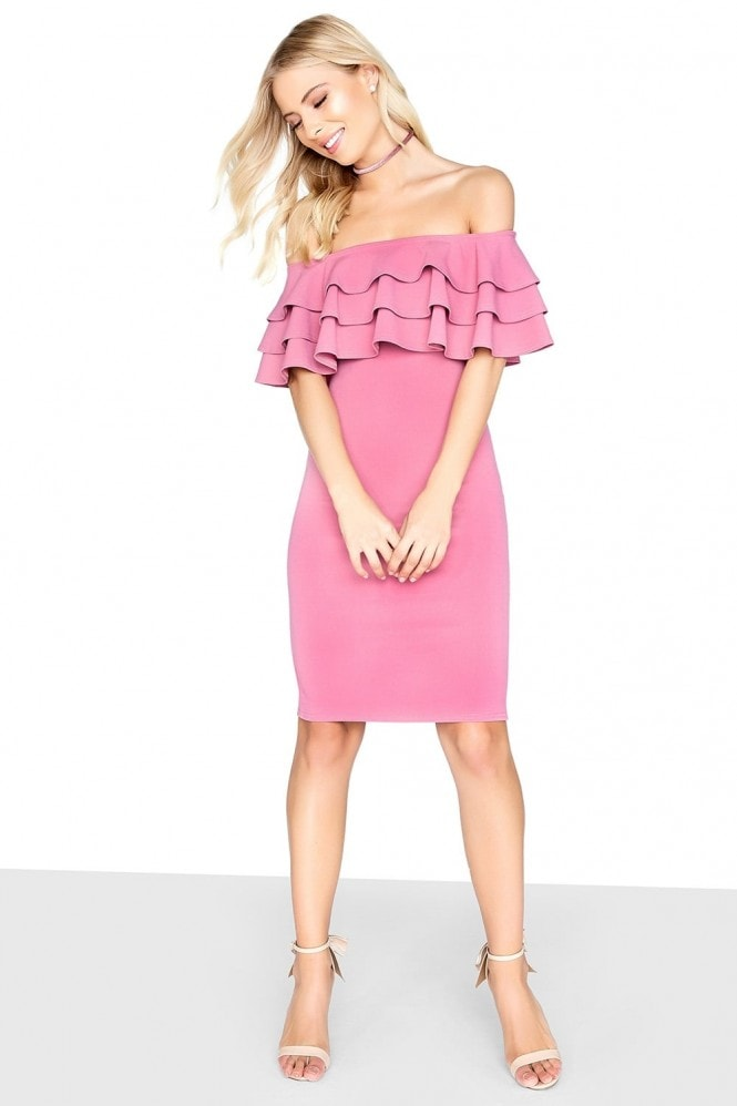 Girls on Film Tiered Frill Bodycon