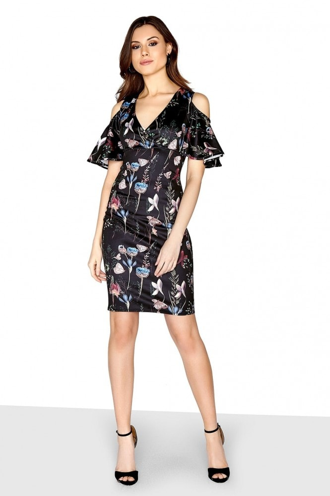 Girls on Film Floral Cold Shoulder Dress
