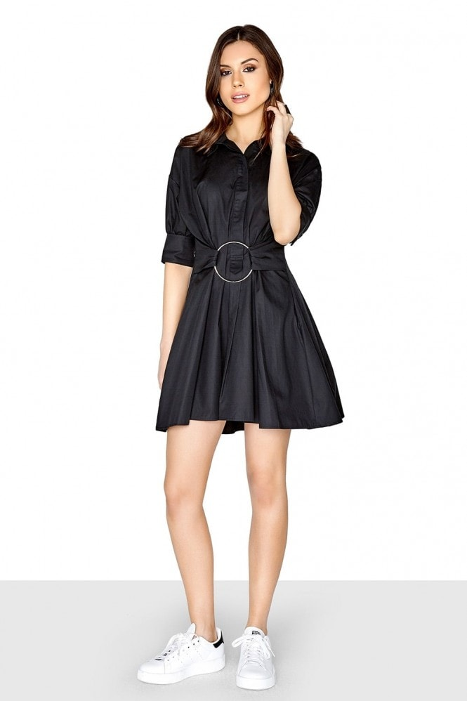 Girls on Film Black Shirt Dress