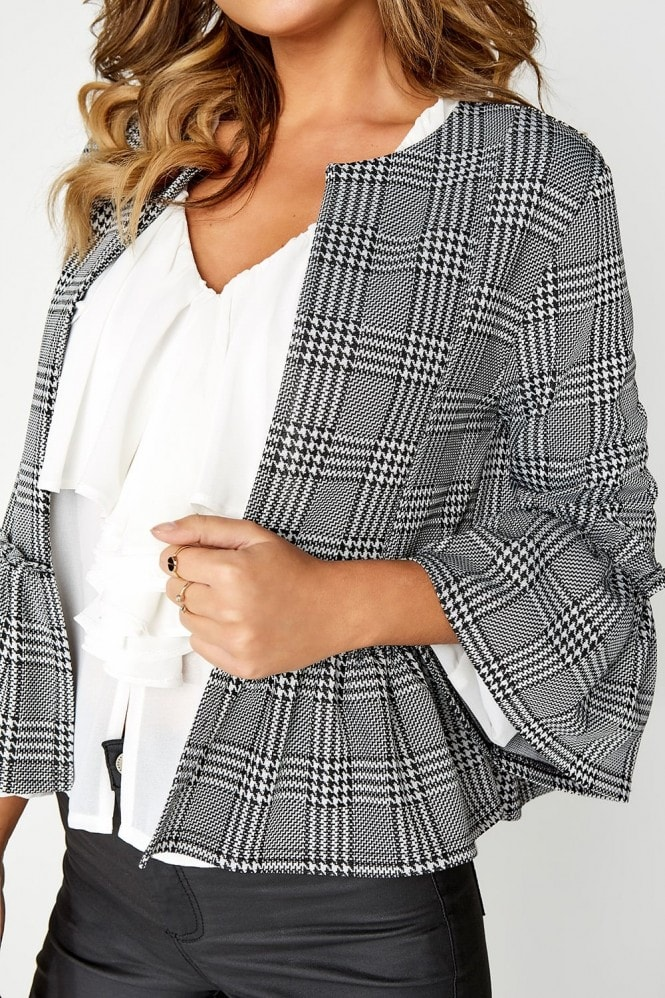 Outlet Girls On Film Grey Check Jacket