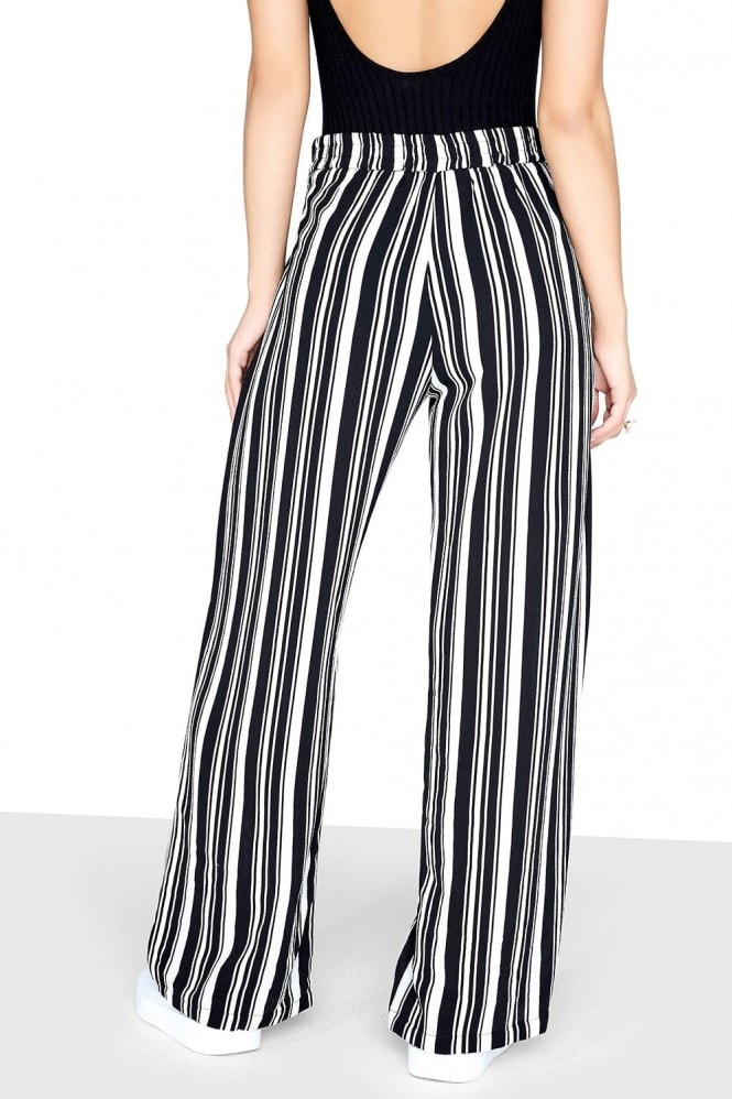 Girls on Film Mono Stripe Trouser