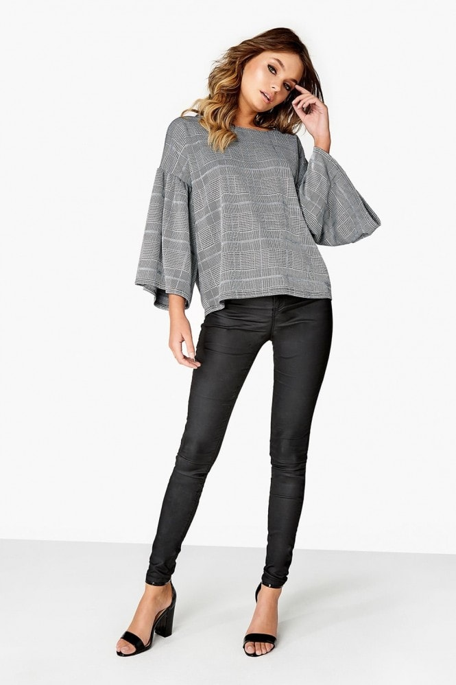 Girls on Film Frill Sleeve Top