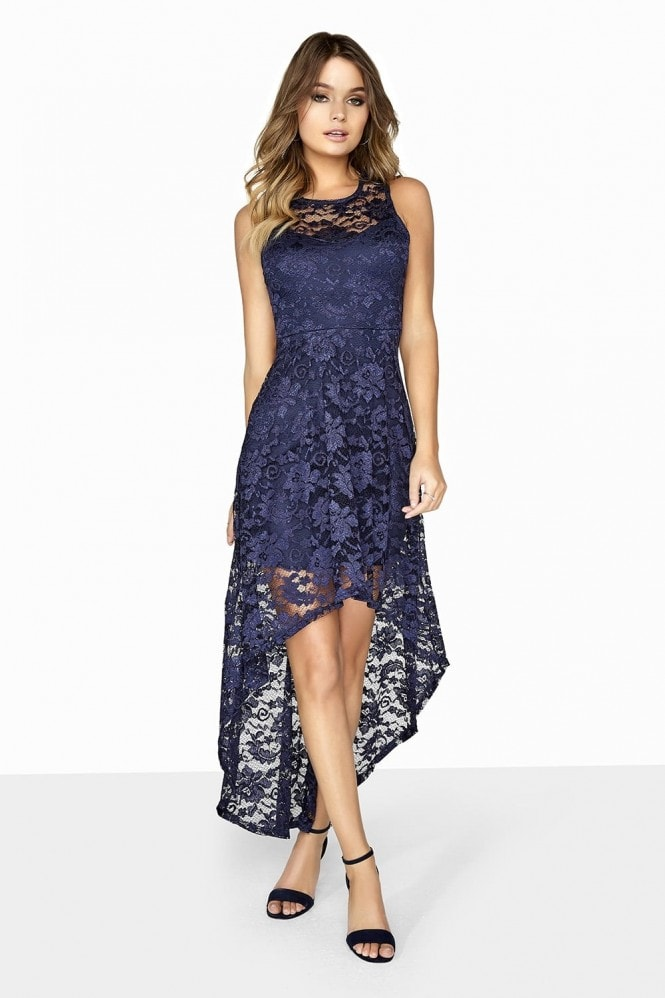 Girls on Film Navy Lace Dress