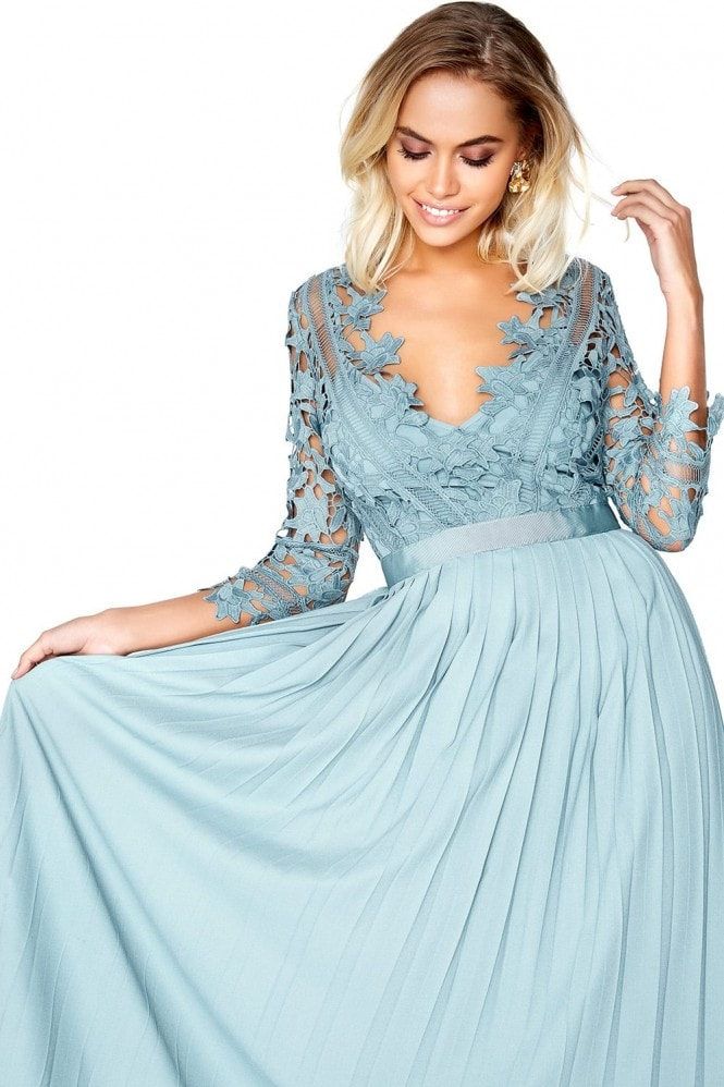Little Mistress Cornflower Maxi Dress